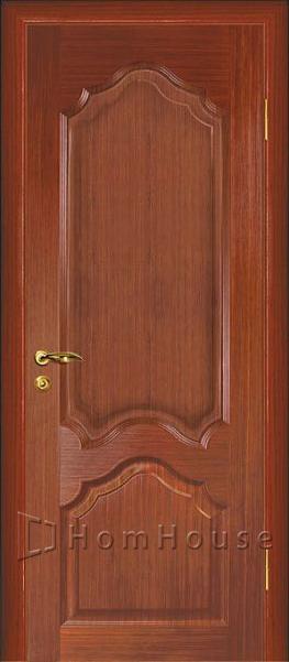 шпонированная дверь красное дерево