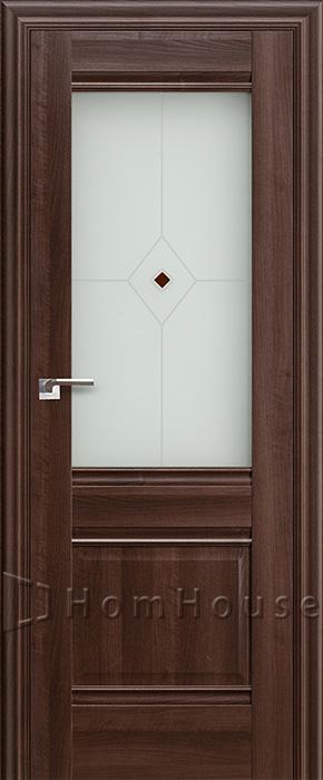 Межкомнатная дверь 2X Орех Сиена