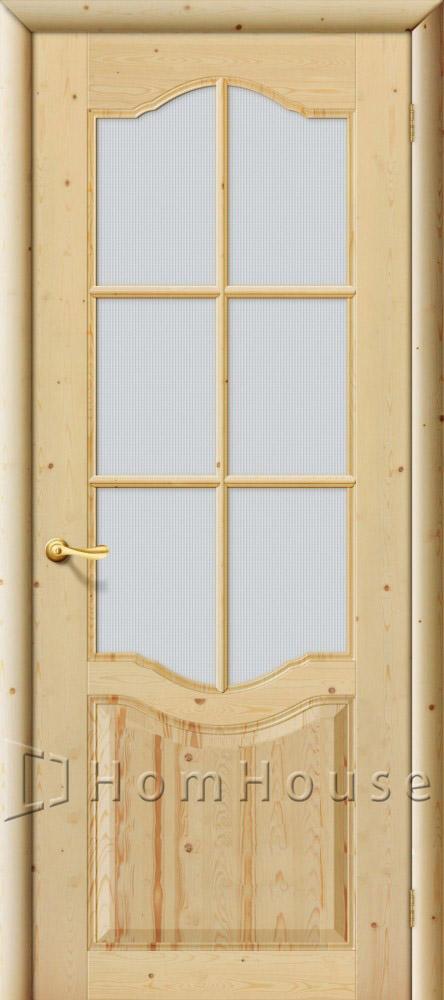 Строительная дверь из массива