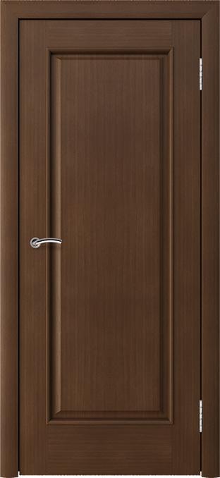 шпонированная дверь - анегри тёмный