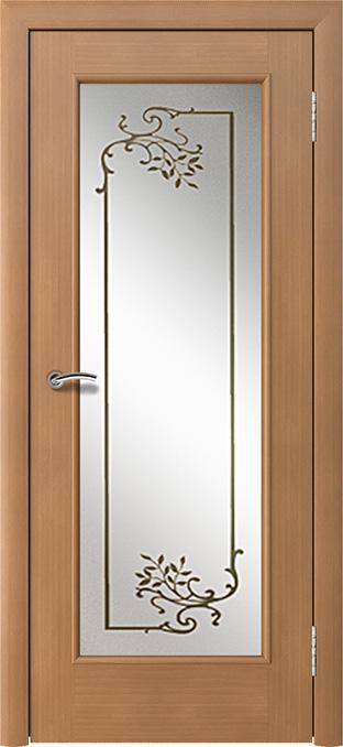 шпонированная дверь - анегри светлый