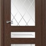шпонированная дверь - бургундский дуб