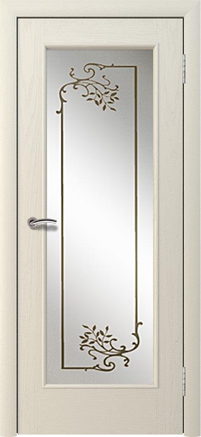 Шпонированная дверь - Слоновая кость