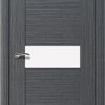 шпонированная дверь - дуб стальной