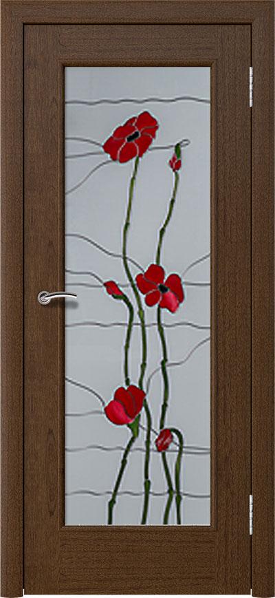 шпонированная дверь - cапеле тон 2