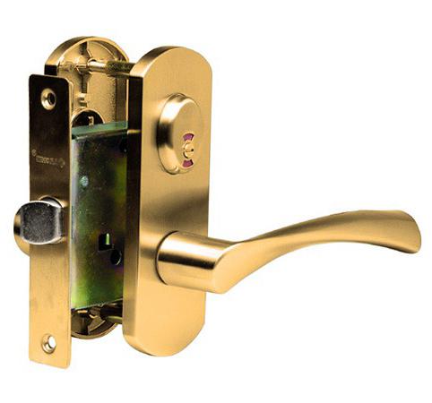 Дверная ручка с замочным механизмом