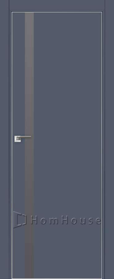 Дверь 6E Антрацит серебряный лак