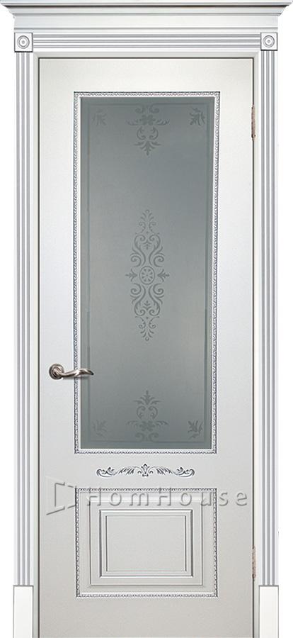Дверь Смальта 04 Белый серебро