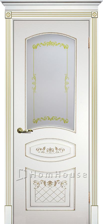 Дверь Смальта 05 Белый золото