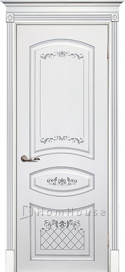 Дверь Смальта 05 Белый серебро