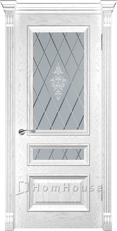 Дверь Фараон 2 Дуб белая эмаль