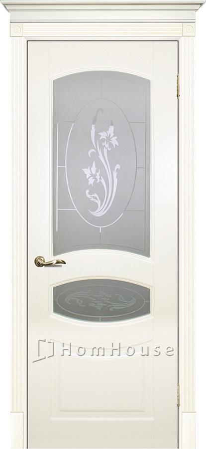 Дверь Смальта 02 Слоновая кость