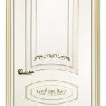 Дверь Смальта 05 Слоновая кость золото