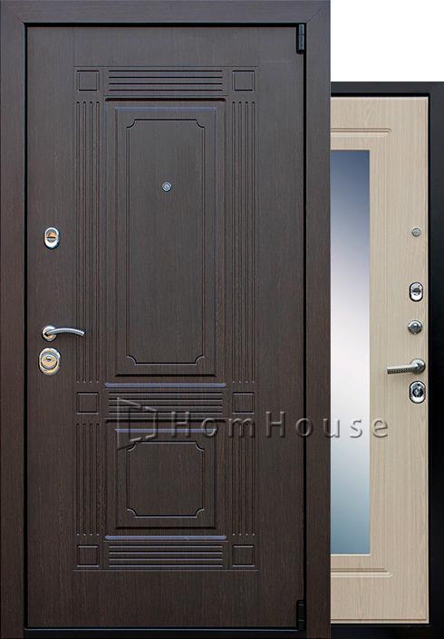 Входная дверь Викинг с зеркалом