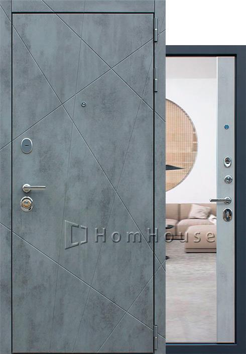 Входная дверь Дуэт Б с зеркалом