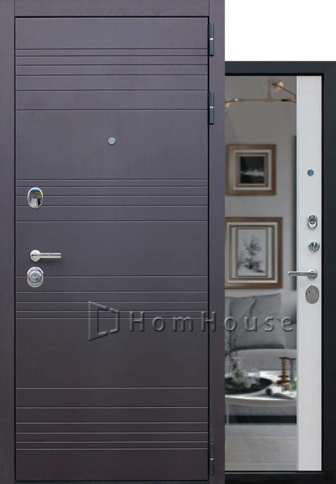 Входная дверь Дуэт с зеркалом